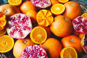 Oranges and pomegranate