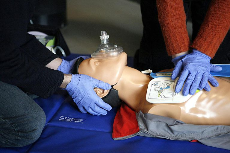 CPR manikin with a barrier mask