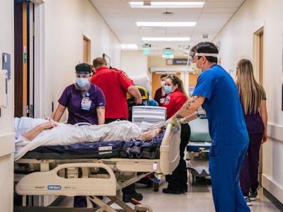 overwhelmed emergency room in a Texas hospital