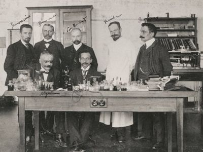 Alois Alzheimer Seated at Left with Other Psychiatrists