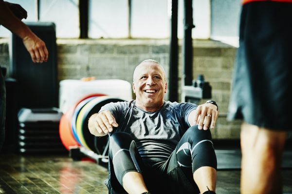 middle age man exercising