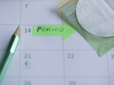 calendar with period start date marked
