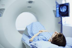 Woman undergoing CT Scan