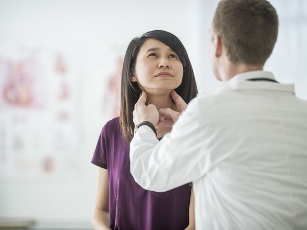woman getting diagnosed with hodgkins lymphoma