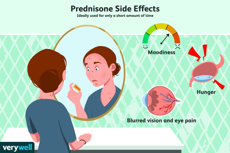 can oral prednisone cause nausea