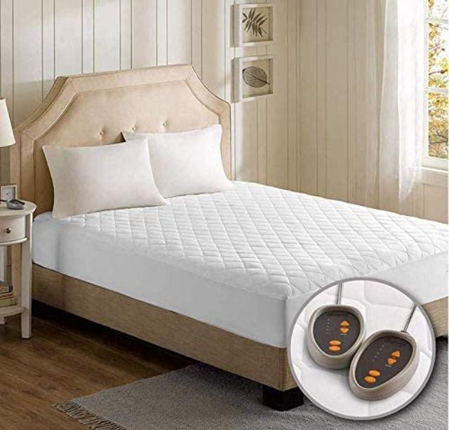 Beautyrest Cotton Blend Heated Mattress Pad