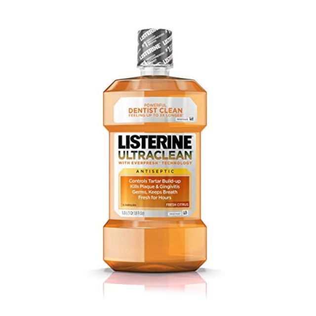 Best Budget: Listerine Ultraclean Oral Care Antiseptic Mouthwash