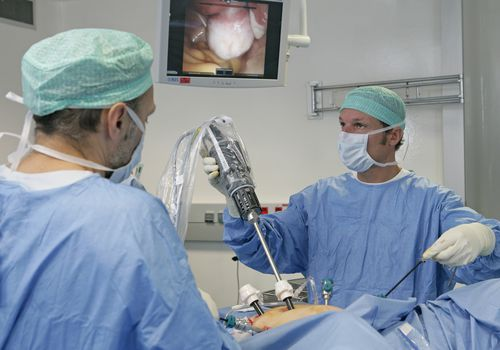 Robot-assisted hysterectomy
