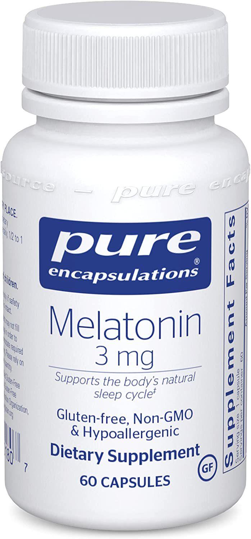 Pure Encapsulations Melatonin 3 mg Capsules