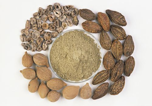 Triphala ingredients in dried form