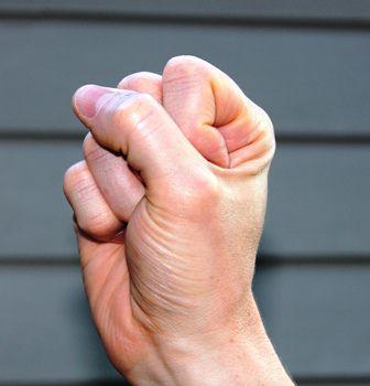 hand demonstrating fist position
