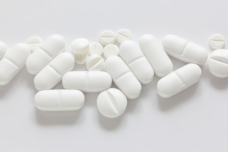 Pile of white tablets