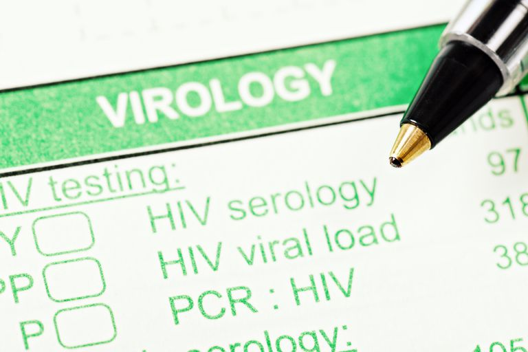 HIV testing form with pen tip