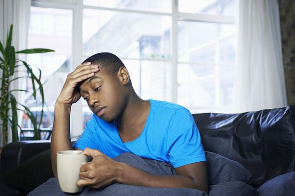 A young man with chronic fatigue