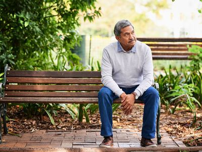 Man sitting on a bench