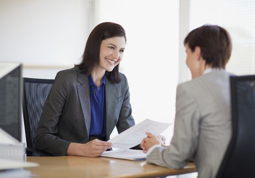 job interview between two women
