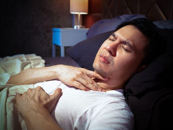 Man has acid reflux at night