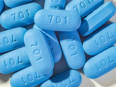 Pile of Truvada pills
