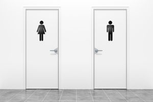 Male and Female Restroom Sign