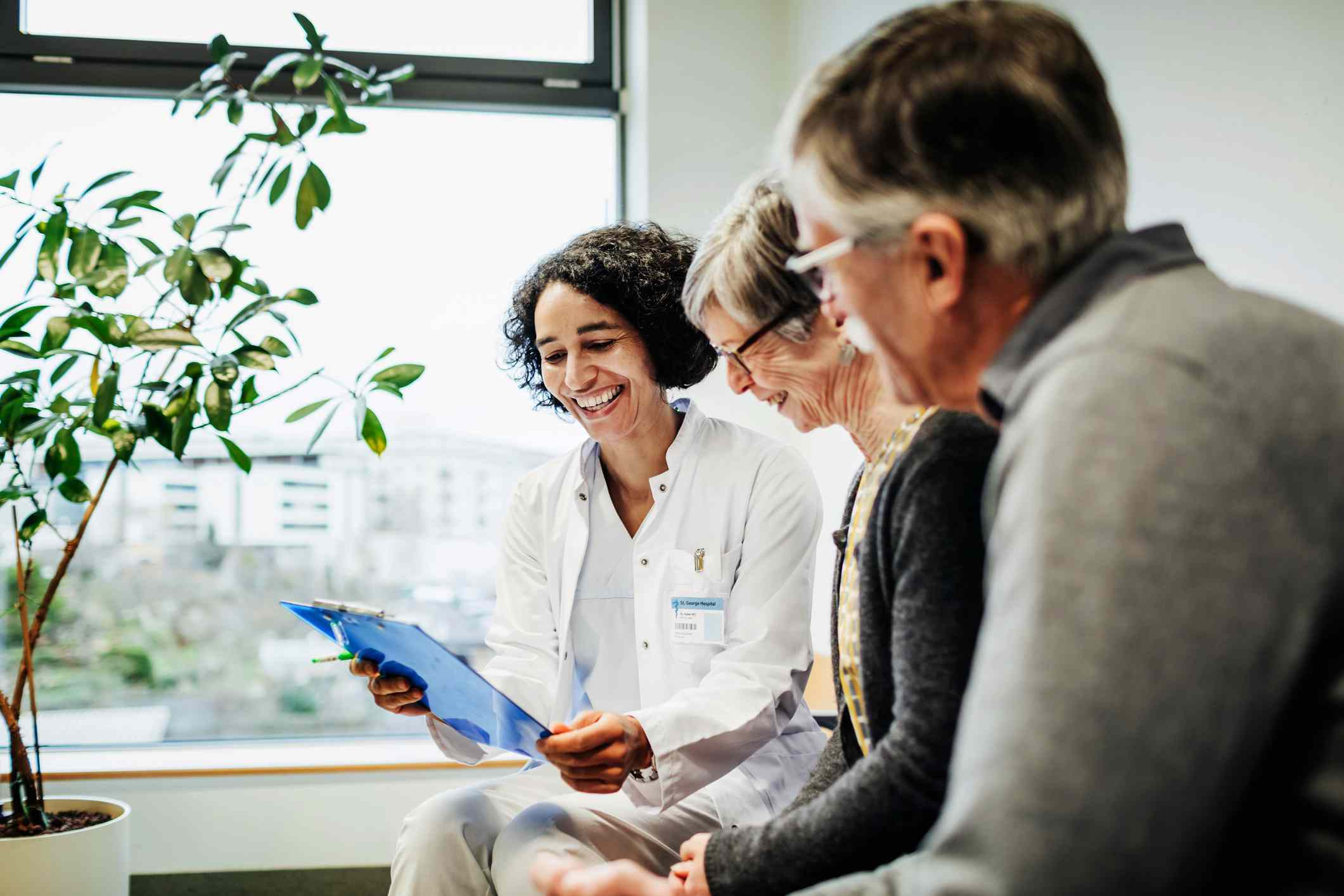 Doctor pleased with older couple's test results