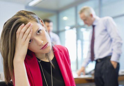 sad business woman