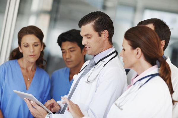 Physicians on rounds