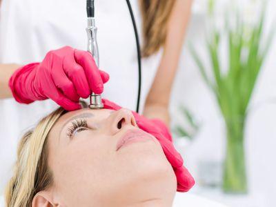 Diamond microdermabrasion facial treatment
