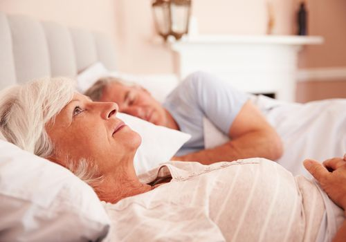 Older woman having trouble sleeping
