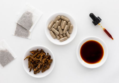 Coptis Chinensis capsules, tincture, dried herb, and tea bags