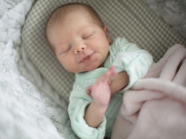 Infant baby sleeping
