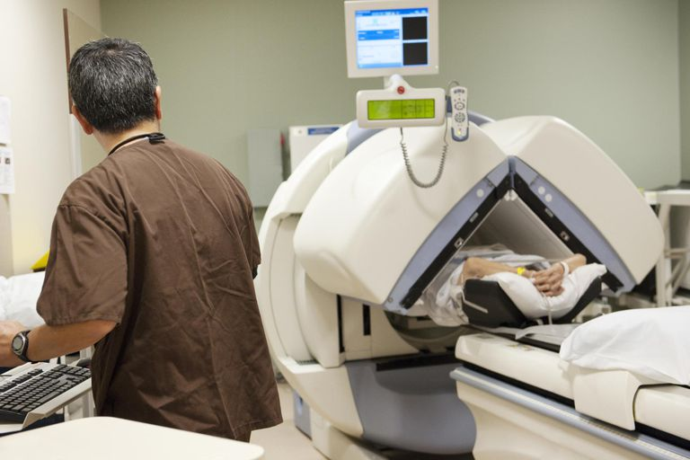 Radiologists prepares open mri scan
