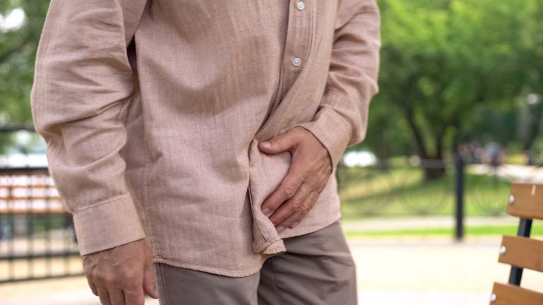 Man with prostate inflammation