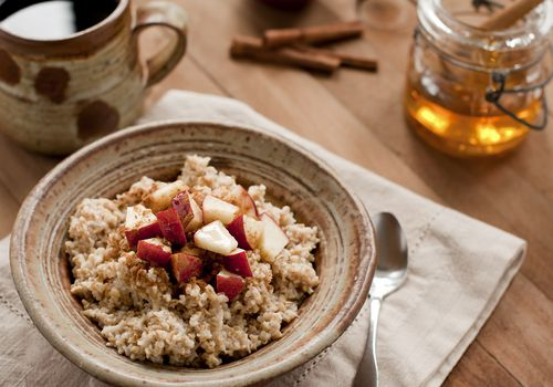Breakfast of Oatmeal and Coffee