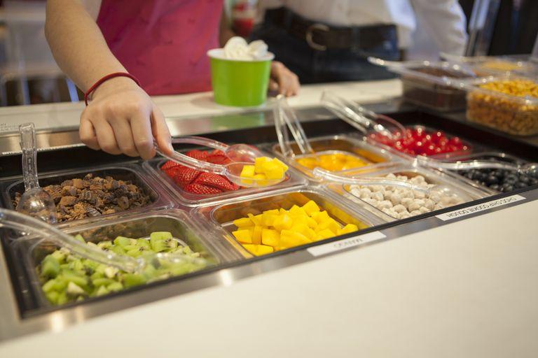 serve-yourself yogurt bar - cross-contamination risks