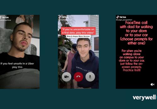 TikTok users creating safety call videos.