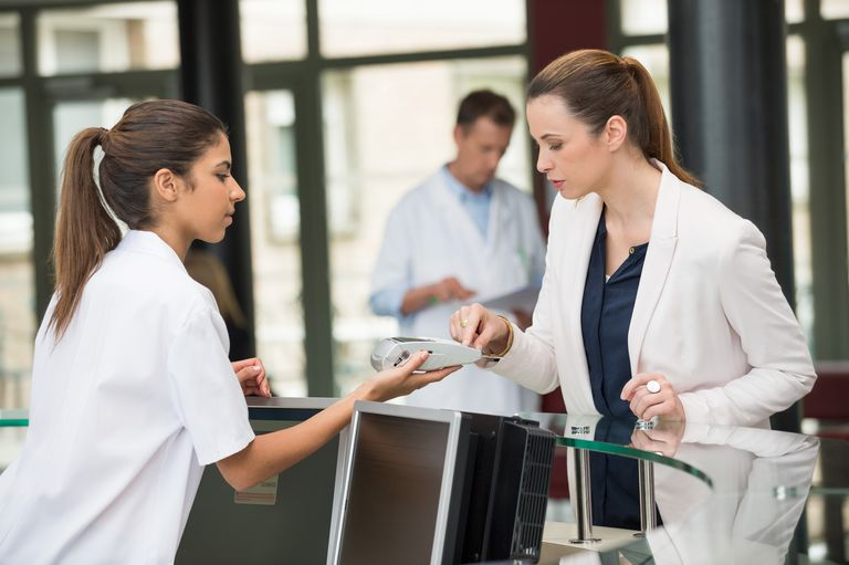Patient making credit card payment