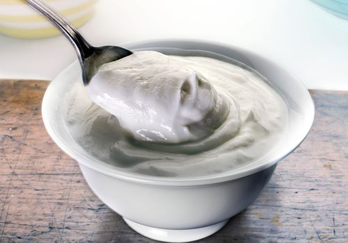 yogurt in a bowl
