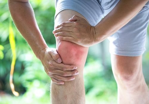 Knee joint inflammation