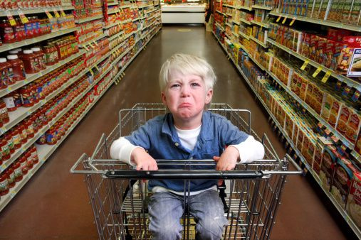 Tantrum at the supermarket