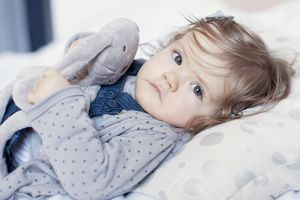 Young girl who is sick