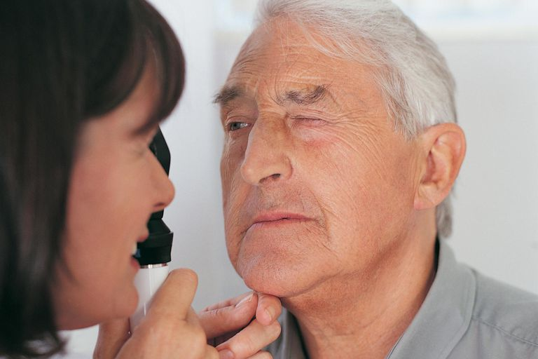 Doctor Examining Patient's Eye With a Occluder