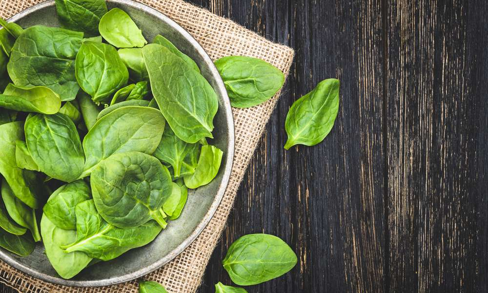 Spinach is a source of iron