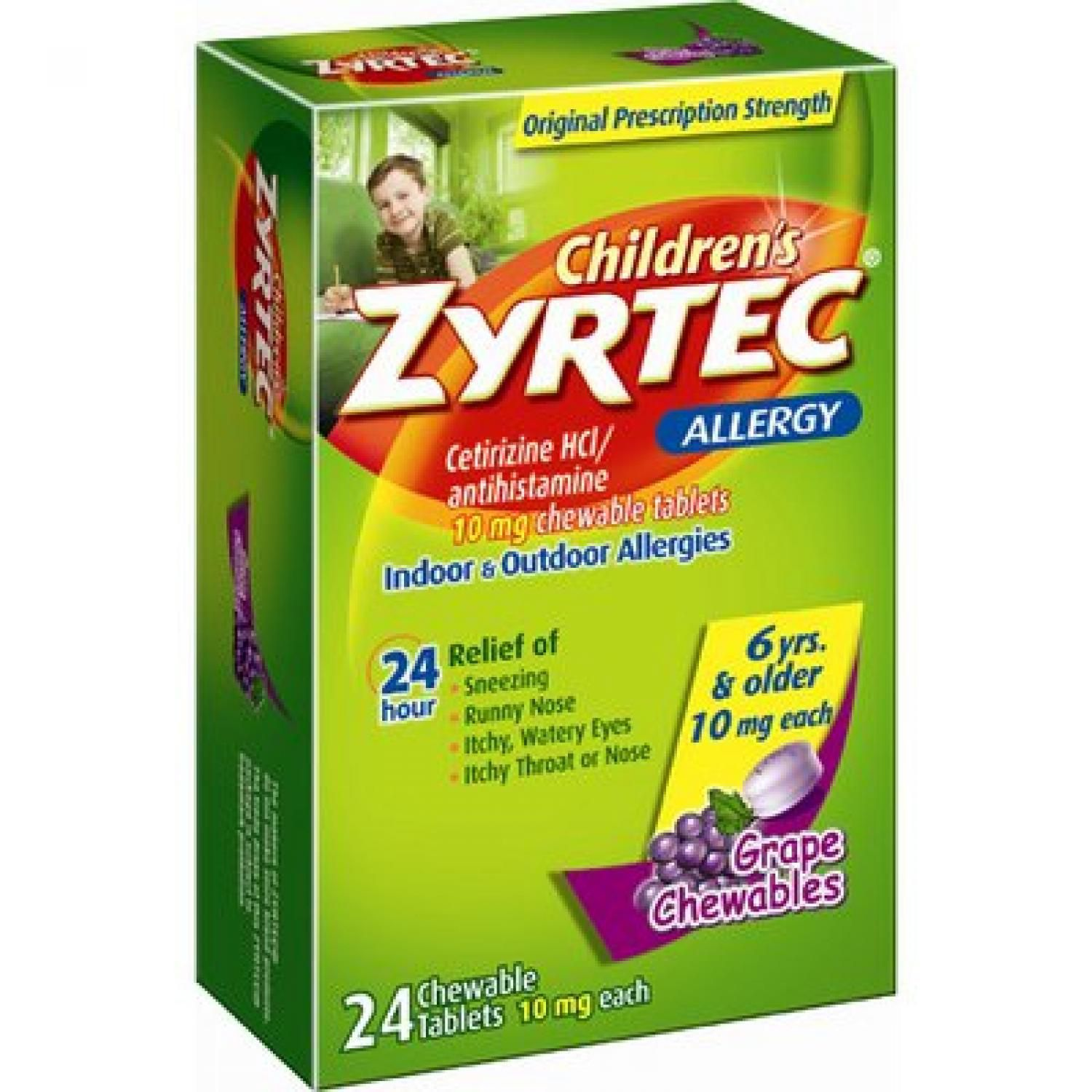 Children's Zyrtec Side Effects and Dosing