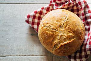 Fresh Baked Bread On Table