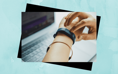 Woman wearing a health technology watch.