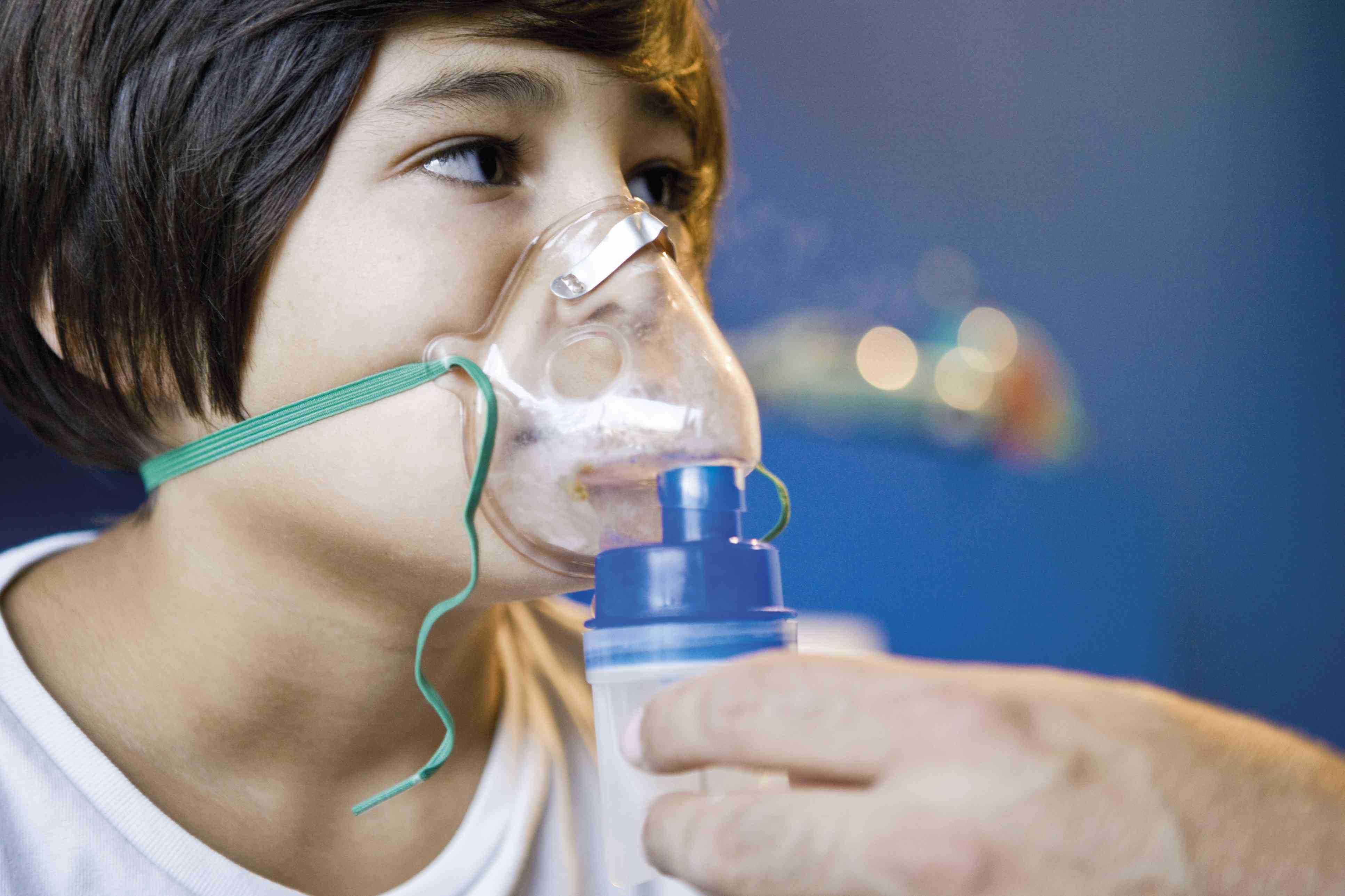 Child having a breathing treatment