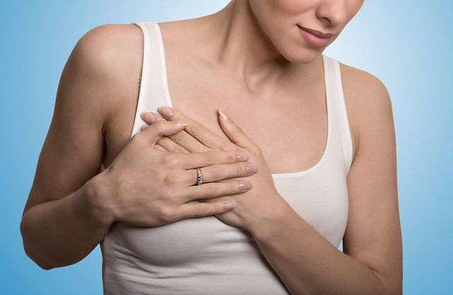 women with mastalgia, the medical term for breast pain