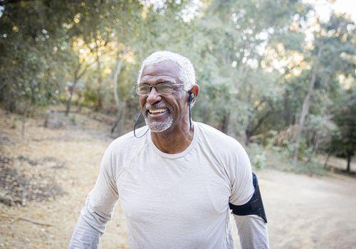 Man enjoys walking for congestive heart failure