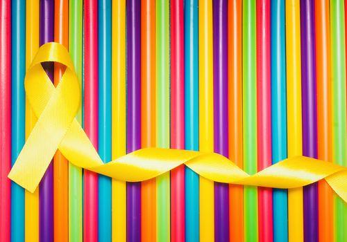 sarcoma ribbon against carcinoma ribbon colors illustrating differences