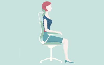 Illustration of woman with good posture